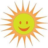 Una sonrisa del sol Imagen de archivo libre de regalías