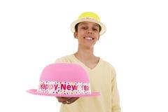 Una sonrisa grande por el Año Nuevo Imagen de archivo libre de regalías