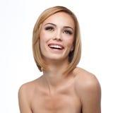Una sonrisa hermosa con maquillaje natural Imagen de archivo libre de regalías