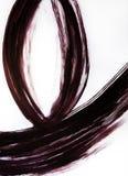 Una spazzola disegna tre linee semicircolari Il movimento armonioso delle candele del fuoco fotografie stock