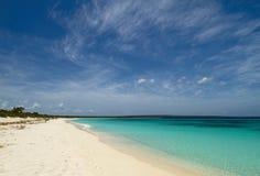 Una spiaggia abbandonata, Repubblica dominicana Fotografia Stock Libera da Diritti