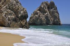 Una spiaggia calma di divorzio Fotografia Stock