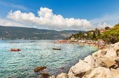 Una spiaggia in Castelnuovo Fotografie Stock