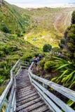 Una spiaggia da 90 miglia - Nuova Zelanda del nord lontana fotografia stock