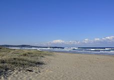 Una spiaggia da sette miglia Immagini Stock Libere da Diritti
