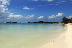 Una spiaggia da sette miglia La Giamaica, Negril Fotografia Stock Libera da Diritti