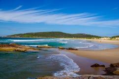 Una spiaggia di miglio Fotografia Stock Libera da Diritti