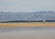 Una spiaggia di Nin, Croatia Immagini Stock Libere da Diritti