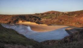 Una spiaggia di tre scogliere Immagini Stock