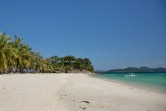 Una spiaggia senza gente Fotografia Stock