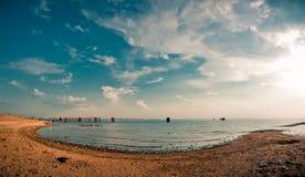 Una spiaggia sporca del bit Fotografie Stock