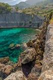 Una spiaggia sull'isola di Mallorca fotografia stock libera da diritti