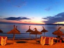 Una spiaggia sull'isola di Mallorca Immagini Stock