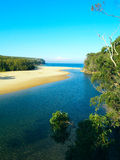 Una spiaggia tropicale in Australia Immagini Stock Libere da Diritti