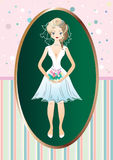 Una sposa in un vestito da sposa Immagine Stock Libera da Diritti