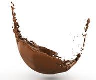 Una spruzzata di cioccolata calda con uno spruzzo Immagine Stock Libera da Diritti