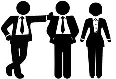 Una squadra di 3 genti di affari in vestiti illustrazione di stock