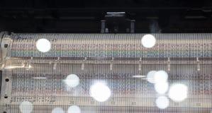 Una stampante per il tracciato del grafico di temperatura fotografia stock