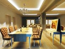 Una stanza dinning elegante Fotografia Stock Libera da Diritti