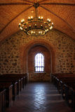 Una stanza in un castello di Trakai, Lituania Fotografie Stock