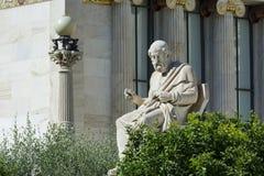 Una statua classica di Platone immagine stock libera da diritti