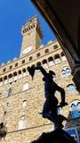 Una statua in dei Lanzi della loggia a Firenze, Italia immagini stock libere da diritti