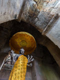 Una statua del atAngkor indù Wat, Cambogia di Vishnu del dio Fotografia Stock Libera da Diritti
