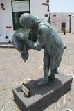 Una statua del batterista Immagini Stock Libere da Diritti