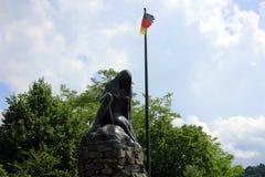 Una statua del lorelei in Germania immagine stock