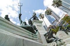 Una statua del poseidon nel parco di Sydney Immagine Stock