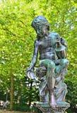 Una statua del secolo 19 nel parc a Bruxelles Fotografie Stock Libere da Diritti