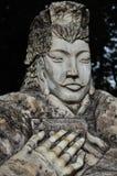 Una statua dell'eroe cinese antico Liu Bei Immagini Stock Libere da Diritti