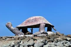 Una statua della tartaruga di mare Immagini Stock Libere da Diritti