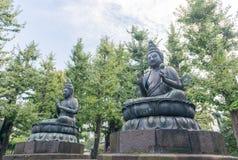 Una statua di Buddha fuori del tempio di Sensoji Fotografie Stock