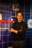 Una statua di cera di Steve Jobs al museo della cera di signora Tussauds immagini stock libere da diritti