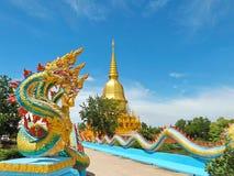 Una statua di cinque Naga delle teste Immagine Stock Libera da Diritti