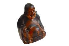 Una statua di legno di Buddha Fotografia Stock