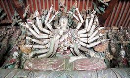 Una statua di mille braccia Guanyin buddha Fotografia Stock Libera da Diritti