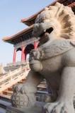 Una statua in un animale novello della Cina Fotografia Stock Libera da Diritti