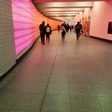 una stazione con le installazioni leggere Immagini Stock