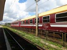 Una stazione ferroviaria Fotografie Stock