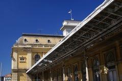 Una stazione ferroviaria di Budapest in Ungheria Fotografia Stock Libera da Diritti