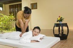 una stazione termale di 4 massaggi tailandese Immagine Stock