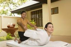 una stazione termale di 6 massaggi tailandese Fotografia Stock Libera da Diritti