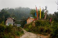 Una stazione turistica alla cima della collina Fotografie Stock Libere da Diritti