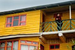 Una stazione turistica alla cima della collina Immagini Stock