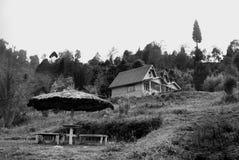 Una stazione turistica alla cima della collina Fotografia Stock Libera da Diritti