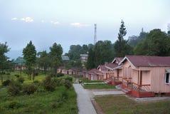 Una stazione turistica a Loleygaon Immagine Stock Libera da Diritti