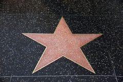 Una stella in bianco nella passeggiata di Hollywood di fama Immagine Stock Libera da Diritti
