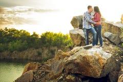 Una storia di amore in natura Fotografie Stock
